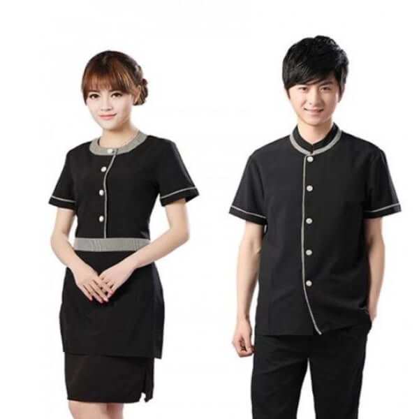 Xưởng may áo đồng phục nhân viên nhà hàng - khách sạn 24