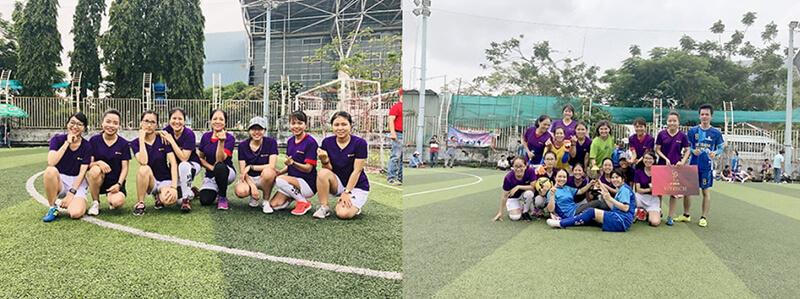 Các cầu thủ áo tím xuất sắc giành vô địch