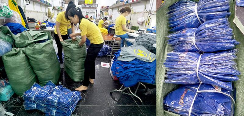 Đóng gói, xếp hàng chuẩn bị giao cho kháchĐóng gói, xếp hàng chuẩn bị giao cho khách