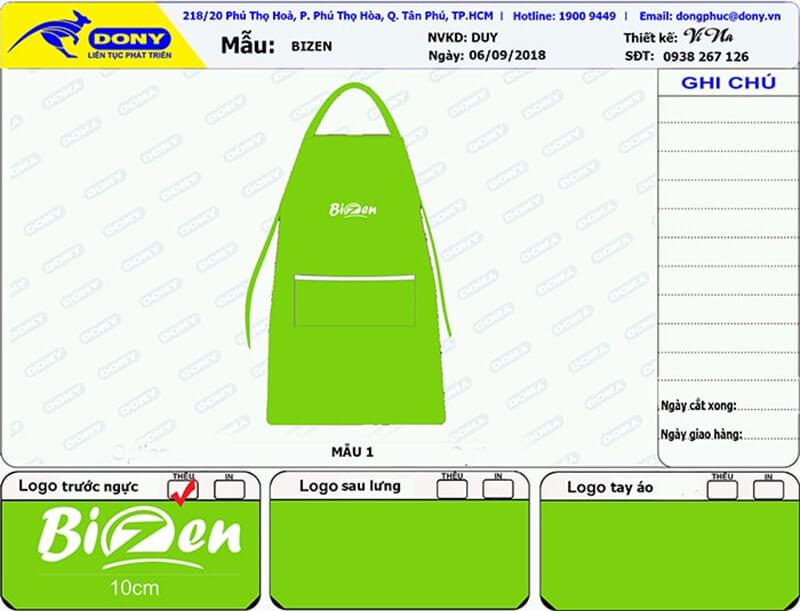 File thiết kế tạp dề Bizen