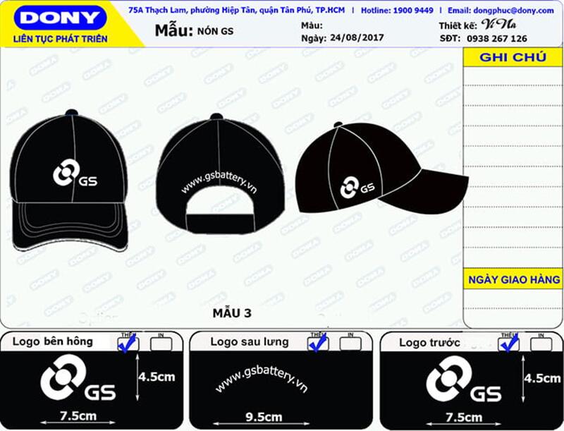 File thiết kế nón GS