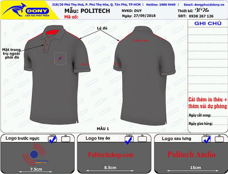 File thiết kế áo Politech