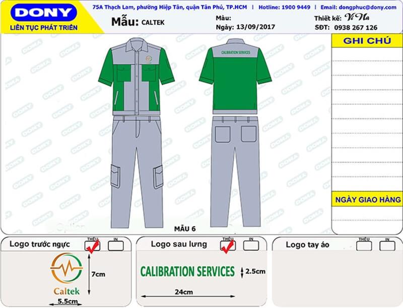 File thiết kế bảo hộ Caltek