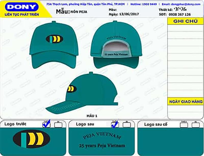 File thiết kế nón khách duyệt