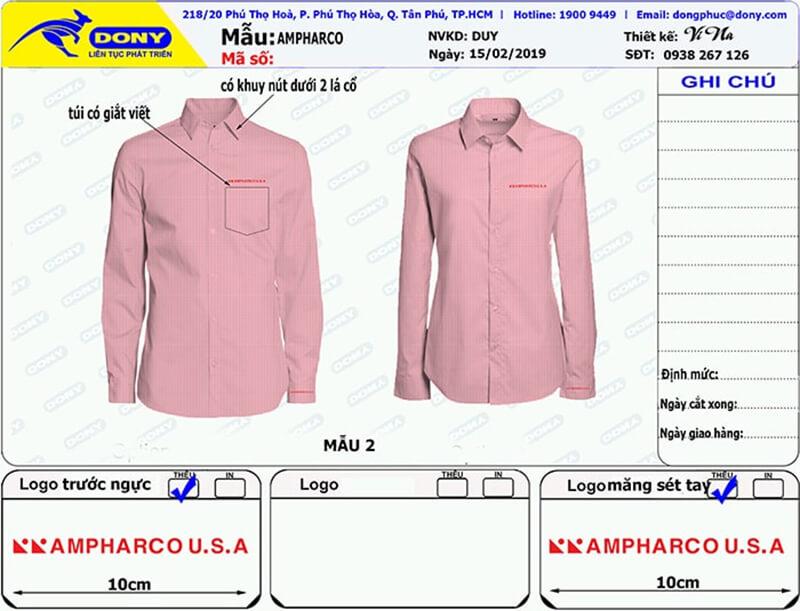 File thiết kế sơ mi Ampharco U.S.A