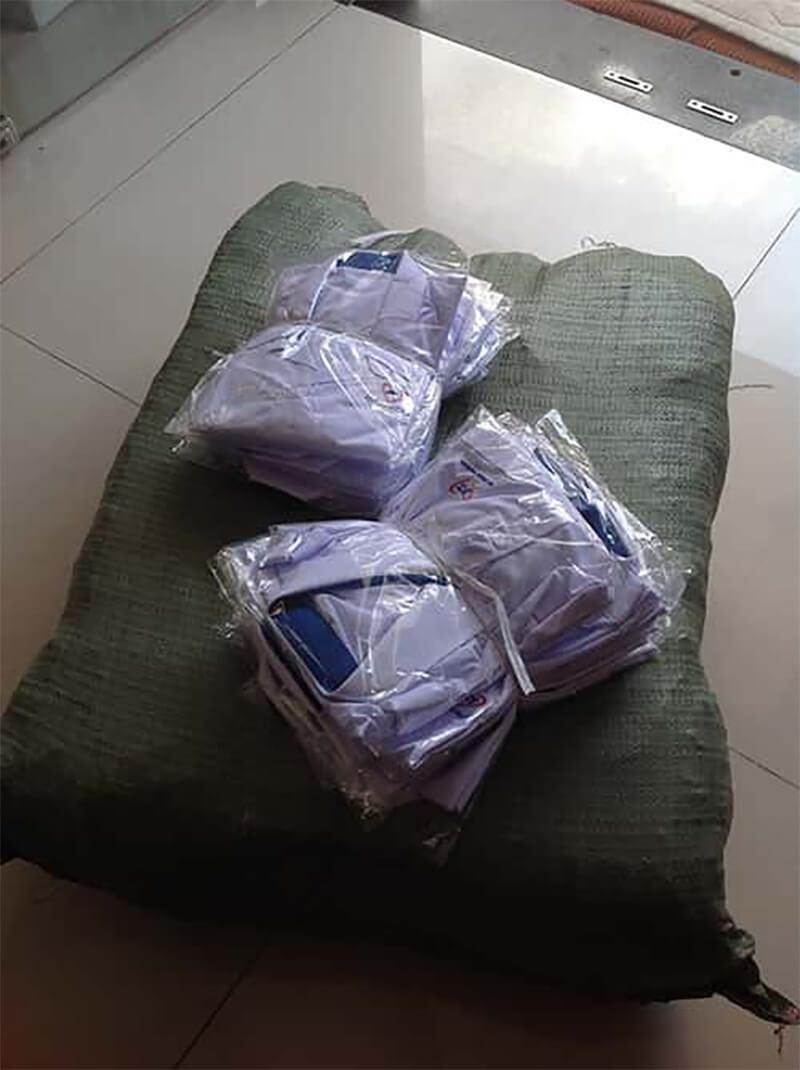 Giao áo đồng phục An Thiên Pharma