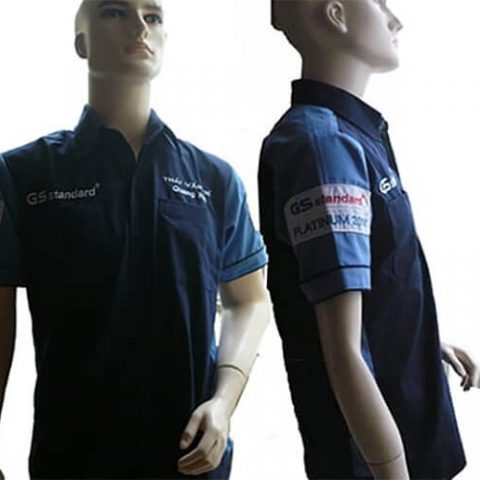 Đồng phục nhân viên của công ty ắc quy GS Nhật Bản