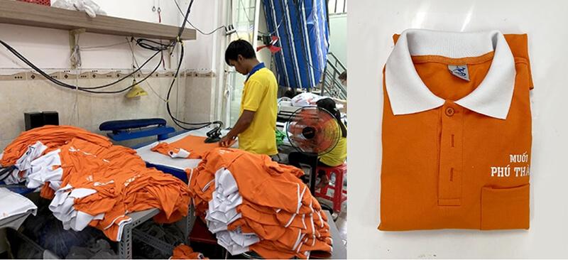 Dony đang hoàn thành áo Muối Phú Thành