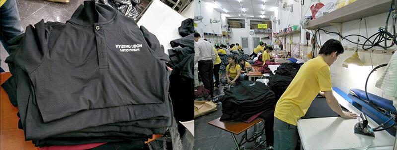 Công đoạn ủi áo , chuẩn bị đóng gói giao cho khách