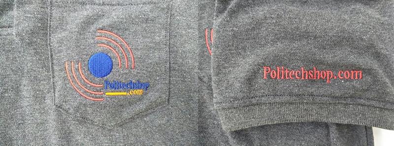 Logo thêu ngực và tay áo
