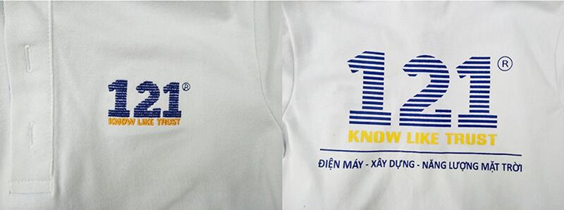 Logo in và thêu 121
