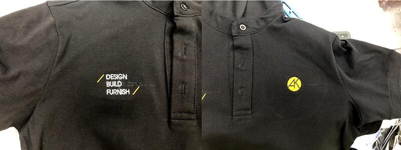 Logo thêu áo thun AK