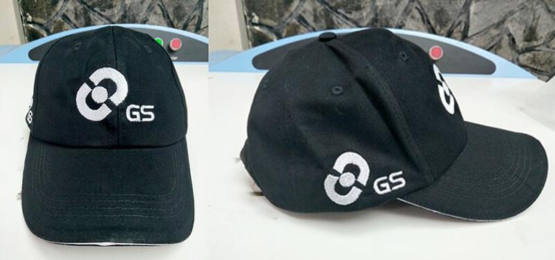 Logo thêu nón Ắc quy GS