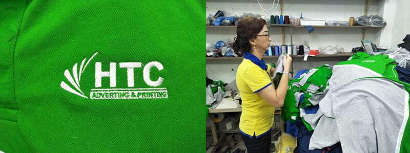 Logo HTC và áo chuẩn bị đóng nút