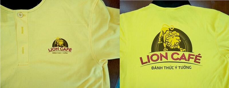 Logo in trước và sau áo