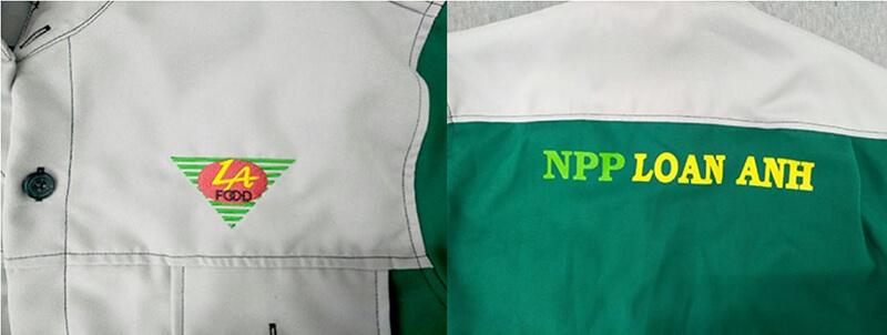 Logo in và thêu NPP Loan Anh