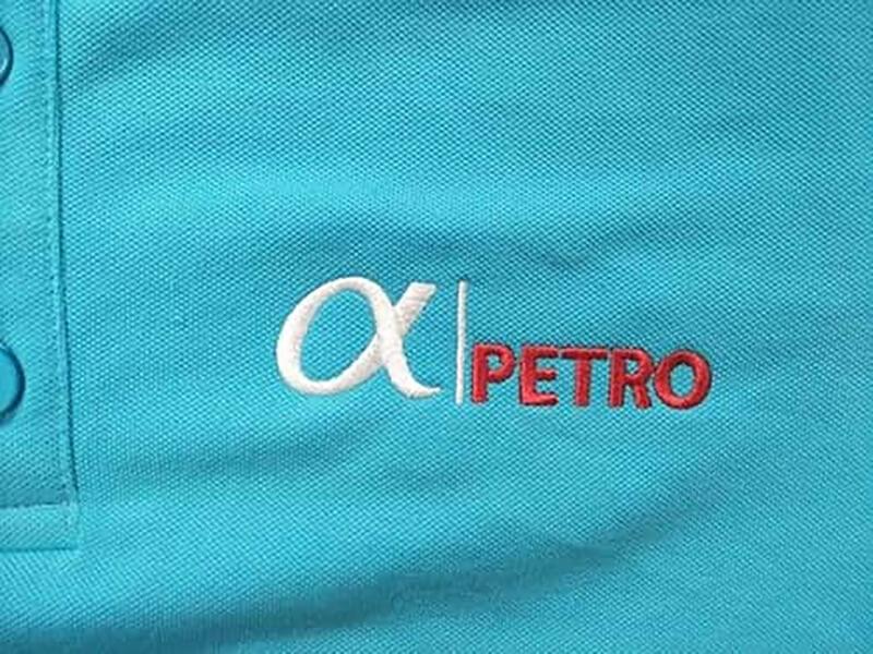 Logo thêu PETROLEUM ALPHA