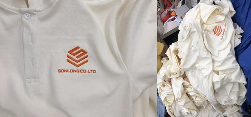 Logo áo và thân áo