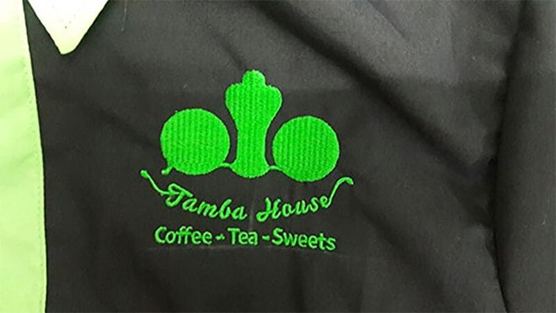 Mẫu thêu Tamba House và hoàn thành sản phẩm giao cho khách
