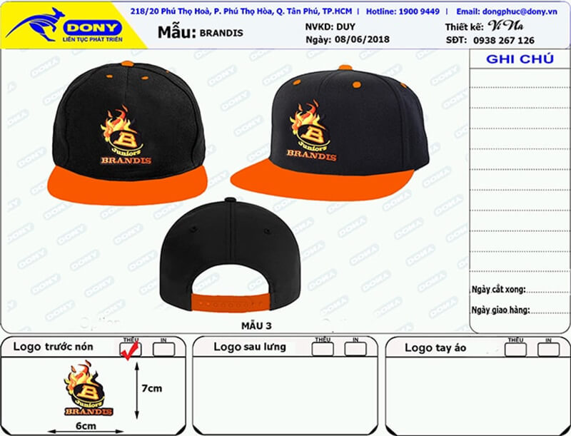 File thiết kế nón Brandis