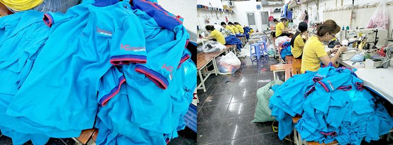 Thân áo và may hàng thành sản phẩm