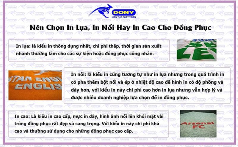 Nên Chọn In Lụa, In Nổi Hay In Cao Cho Đồng Phục 3