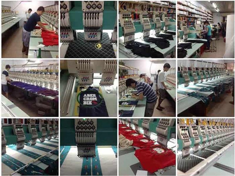 Chúng tôi có đầy đủ máy móc hiện đại với xưởng may thêu đầy đủ mà không phải công ty nào cũng có được.
