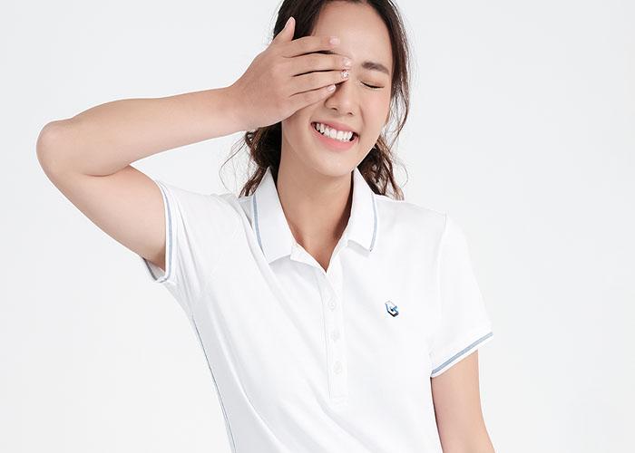 Cách đo size đồng phục áo thun cổ trụ nữ