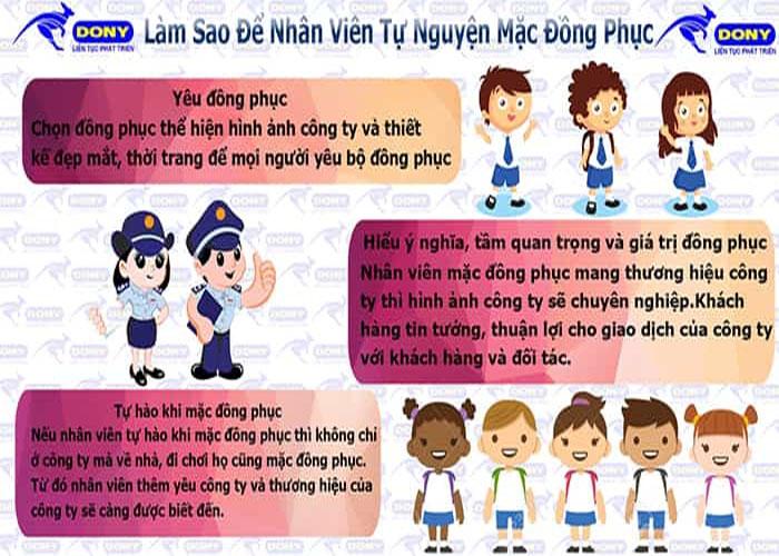 Làm sao để nhân viên tự nguyện mặc đồng phục