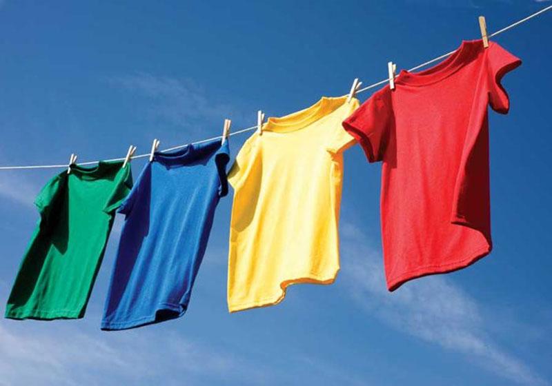 quần áo sau khi giặt cần được phơi nắng