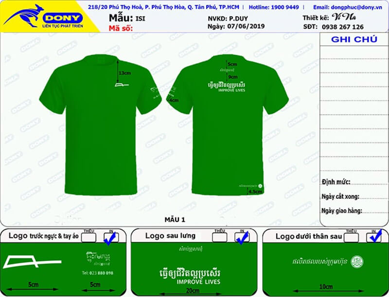 File thiết kế áo thun ISI