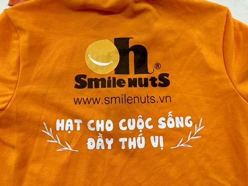 THƯƠNG HIỆU OH SMILE NUTS TẠI QUẬN 12 ĐẶT ĐỒNG PHỤC ÁO THUN 3