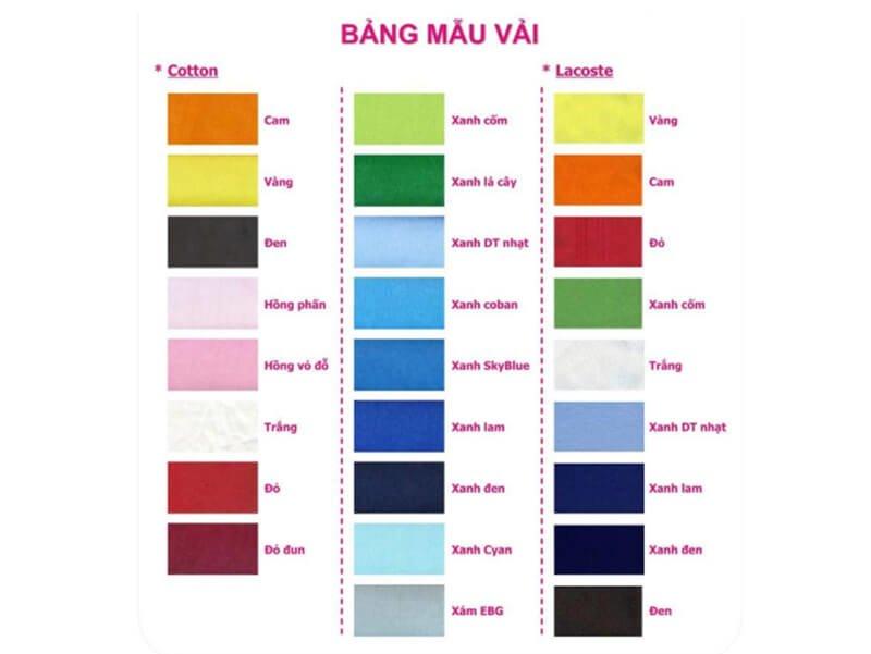 Lựa chọn màu sắc phù hợp