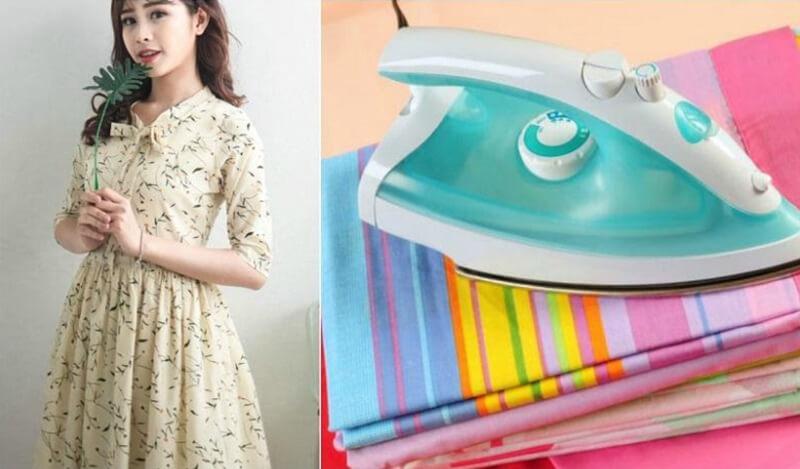 Mỗi loại vải có cách ủi khác nhau