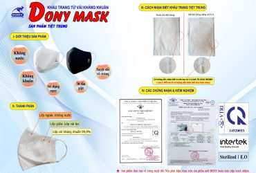 Xưởng sản xuất khẩu trang kháng khuẩn DONY MASK