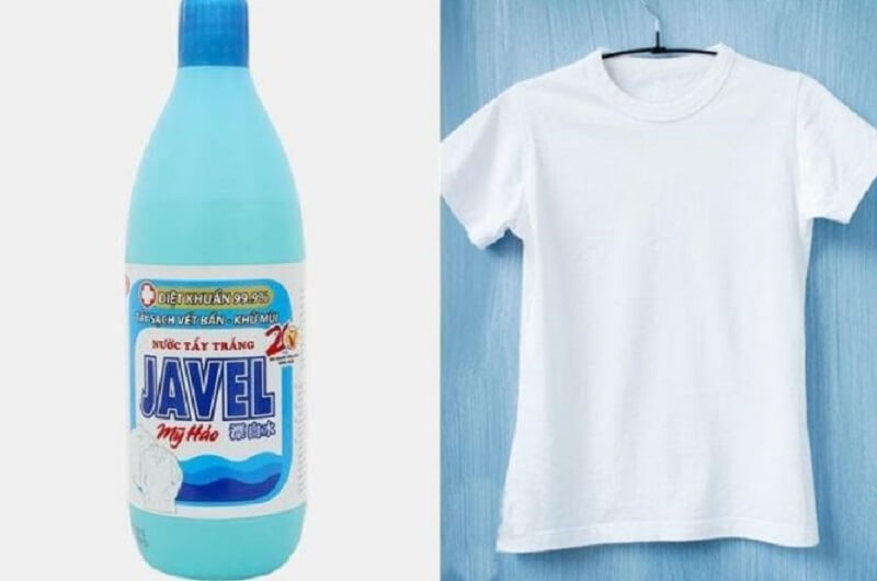 Nước Javen giúp cứu cánh áo trắng dính màu trong tích tắc