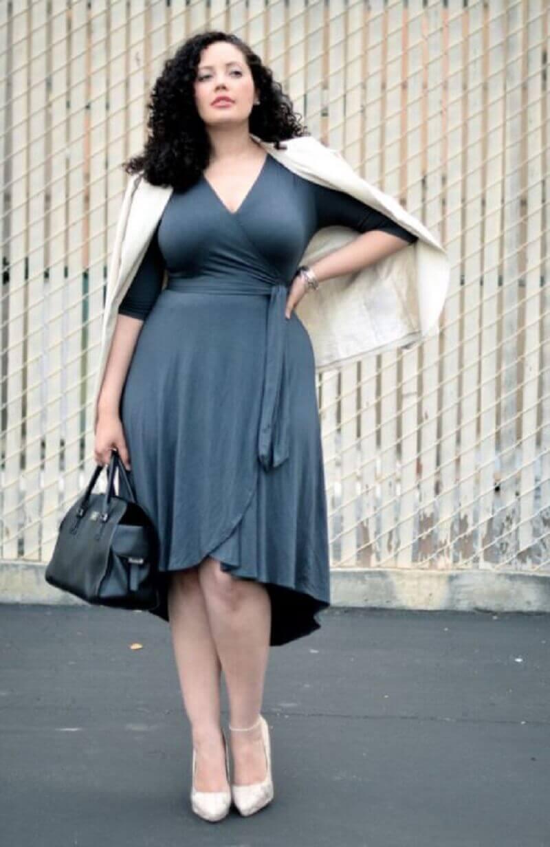 Váy đầm wrap dress sang trọng, quý phái