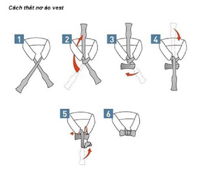 Hướng dẫn cách thắt nơ áo vest