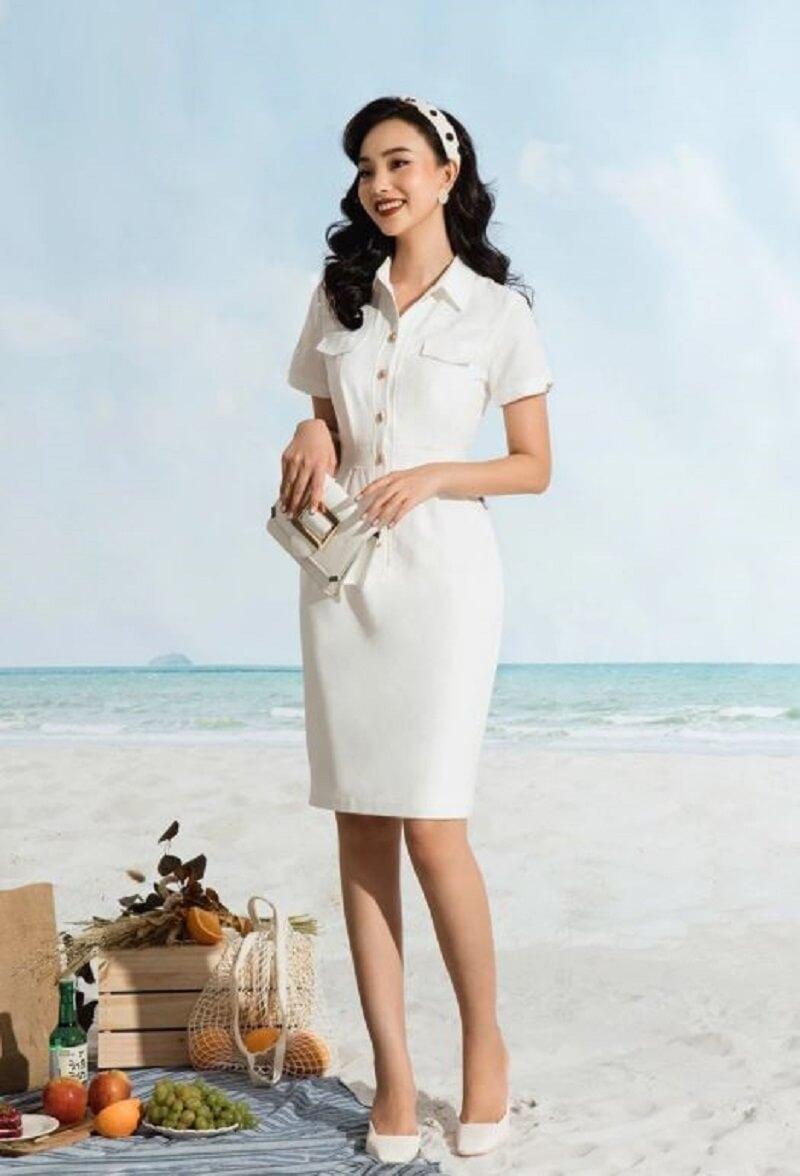Tone màu trắng luôn mang đến sự thanh lịch người mặc