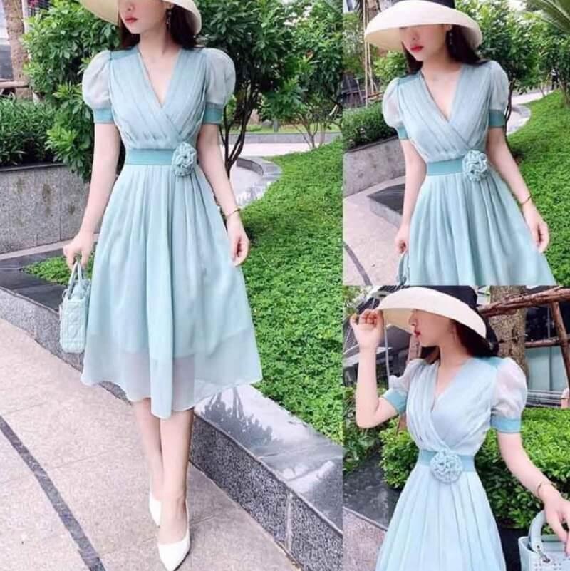 Đầm màu xanh ngọc là một gợi ý hay cho nàng