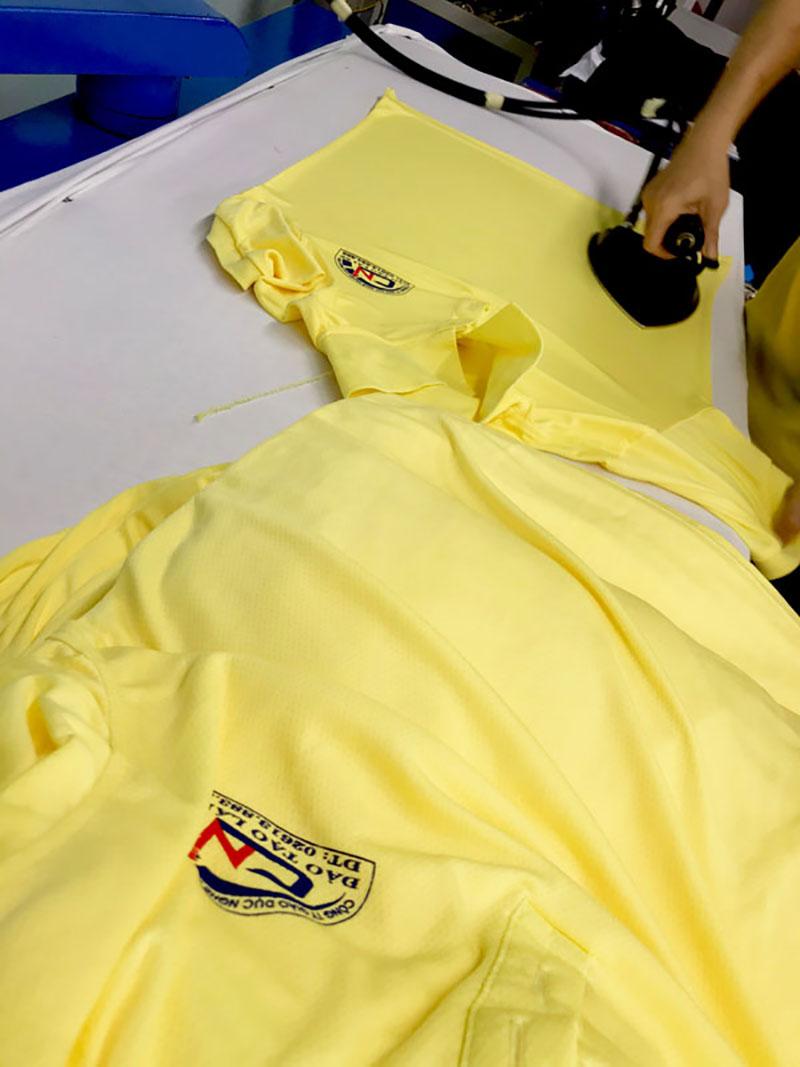 Áo đồng phục cho công ty giáo dục nghề nghiệp Cao Nguyên sắp hoàn thành