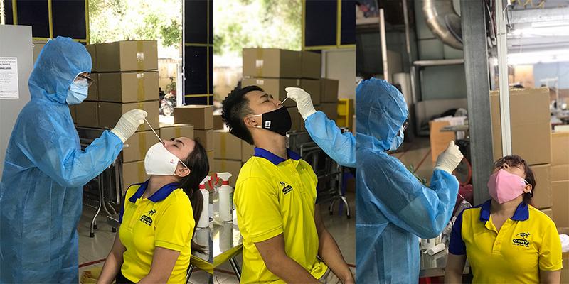 Công ty Dony chủ động xét nghiệm Covid-19 cho người lao động